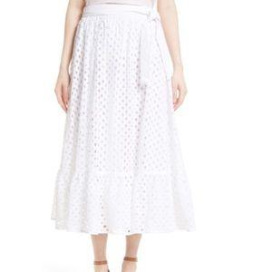 NWT Tory Burch Hermosa Skirt - White